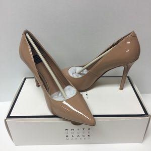 White House black market soft nude heels 7